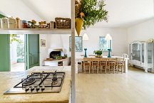 Cortile Del Sole_kitchen & dining with fireplace